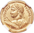 Ancients:Roman Imperial, Ancients: Crispus (AD 316-326). AV solidus (20mm, 4.45 gm, 6h). NGC MS ★ 5/5 - 4/5....