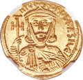 Ancients:Byzantine, Ancients: Nicephorus I and Stauracius (AD 803-811). AV solidus (20mm, 4.43 gm, 6h). NGC MS 5/5 - 4/5....