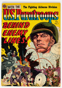 With the U.S. Paratroops Behind Enemy Lines #1 (Avon, 1951) Condition: VG/FN