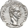Ancients:Roman Imperial, Ancients: Caligula (AD 37-41). AR denarius (19mm, 3.52 gm, 8h). NGC MS 5/5 - 2/5....