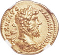 Ancients:Roman Imperial, Ancients: Lucius Verus (AD 161-169). AV aureus (20mm, 7.27 gm, 6h). NGC AU 5/5 - 5/5....