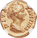 Ancients:Roman Imperial, Ancients: Diva Faustina Senior (AD 138-140/1). AV aureus (19mm,6.73 gm, 6h). NGC XF 5/5 - 4/5....
