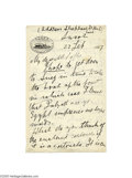 Autographs:Non-American, Sir Henry Rider Haggard 1887 Autograph Letter Signed...