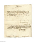 Autographs:Non-American, Document Signed by Queen Isabella of Spain, 1501...