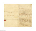 Autographs:Non-American, Monumentally Important Love Letter by the Illustrious Romantic Poet John Keats...