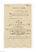 Autographs:Non-American, Napoleon Bonapart, Document Signed as Emperor of France...