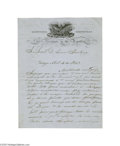Autographs:Non-American, Antonio Lopez De Santa Anna Important War-Dated Manuscript LetterSigned...