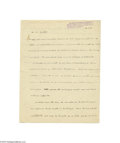Autographs:Non-American, Dr. Albert Schweitzer Signed 1933 Letter...