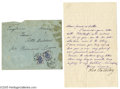 Autographs:Non-American, A Great Rarity: Leo Tolstoy Signs a Letter in English...
