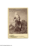 Autographs:Celebrities, Striking Signed Cabinet Photo of Actor Joseph Jefferson in StageOutfit...