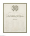 Autographs:U.S. Presidents, Invitation to U.S. Grant's Inaugural Ball, 1873...