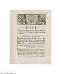 Miscellaneous:Booklets, Louis XVI - 1791 Decree of the National Assembly...