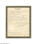 Autographs:Military Figures, Unusual Revolutionary War Soldier's Widow's Pension Document...
