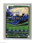 Books:First Editions, J.R.R. Tolkien - The Hobbit, First Edition, First Impression, 1937,London: George Allen & Unwin, Ltd. 8vo, green decorated ...