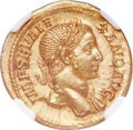 Ancients:Roman Imperial, Ancients: Severus Alexander (AD 222-235). AV aureus (20mm, 6.64 gm, 7h). NGC Choice MS ★ 5/5 - 5/5, Fine Style....