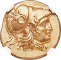Ancients:Greek, Ancients: MACEDONIAN KINGDOM. Alexander III the Great (336-323 BC). AV stater (18mm, 8.61 gm, 1h). NGC Choice MS ★ 5/5 - 5/5....