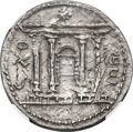 Ancients:Judaea, Ancients: JUDAEA. Bar Kokhba Revolt (AD 132-135). AR sela (28mm, 15.05 gm, 1h). NGC Choice AU 3/5 - 4/5, overstruck....