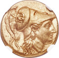 Ancients:Greek, Ancients: MACEDONIAN KINGDOM. Alexander III the Great (336-323 BC). AV stater (17mm, 8.57 gm, 11h). NGC MS ★ 5/5 - 5/5, Fine Style....
