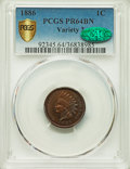 Proof Indian Cents, 1886 1C Variety 2 PR64 Brown PCGS Secure. CAC. PCGS Population: (38/46 and 1/2+). NGC Census: (16/27 and 0/0+). CDN: $600 W...