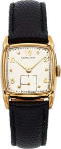 Timepieces:Wristwatch, Hamilton, Clyde, 10K Yellow Goldfilled, Manual Wind, Circa...