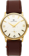 Timepieces:Wristwatch, Hamilton, Arthur, 10K Yellow Rolled Gold Plate and Stainle...