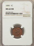Indian Cents: , 1890 1C MS62 Red and Brown NGC. NGC Census: (17/394). PCGS Population: (24/586). Mintage 57,182,856. ...