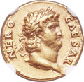 Ancients:Roman Imperial, Ancients: Nero (AD 54-68). AV aureus (18mm, 7.31 gm, 5h). NGCChoice XF 5/5 - 5/5....