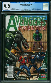 Avengers Forever 4 Old West Variant Cover (Marvel, 1999) CGC NM- 9.2 WHITE pages
