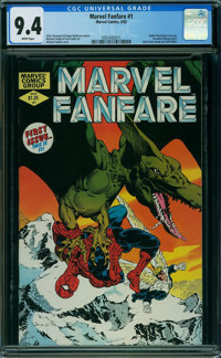 Marvel Fanfare #1 (Marvel, 1982) CGC NM 9.4 WHITE pages