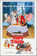 """Movie Posters:Animation, Lady and the Tramp & Others Lot (Buena Vista, R-1980). Rolled,Very Fine-. One Sheet (27"""" X 41"""") & Half Sheets (2) (22"""" X28... (Total: 3 Items)"""