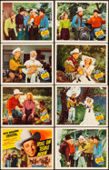 """Movie Posters:Western, Roll on Texas Moon (Republic, 1946). Very Fine. Lobby Card Set of 8 (11"""" X 14""""). Western.. ... (Total: 8 Items)"""