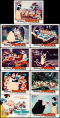 """Movie Posters:Animation, Snow White and the Seven Dwarfs (Buena Vista, R-1975/R-1967). Folded, Very Fine-. One Sheet (27"""" X 41"""") & Lobby Card Set of ... (Total: 10 Items)"""