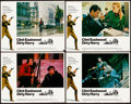 """Movie Posters:Crime, Dirty Harry (Warner Brothers, 1971). Very Fine-. Lobby Cards (4) (11"""" X 14"""") & Cut Pressbooks (3) Identical (11"""" X 14""""). Cri... (Total: 7 Items)"""