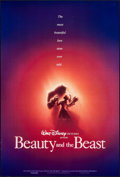 """Movie Posters:Animation, Beauty and the Beast (Buena Vista, 1991). Rolled, Very Fine-. One Sheets (2) (27"""" X 40"""" X 27"""" X 41""""). DS, Regular and Advanc... (Total: 2 Items)"""