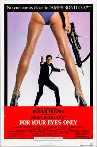 """For Your Eyes Only (United Artists, 1981). Rolled, Very Fine+. One Sheet (27"""" X 41""""). James Bond"""