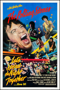 """Let's Spend the Night Together (Embassy, 1983). Rolled, Very Fine+. One Sheet (27"""" X 41""""). Rock and Roll"""
