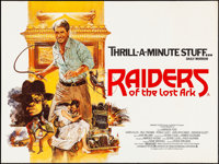 """Raiders of the Lost Ark (Paramount, 1981). Rolled, Very Fine. British Quad (30"""" X 40""""). Brian Bysouth Artwork..."""