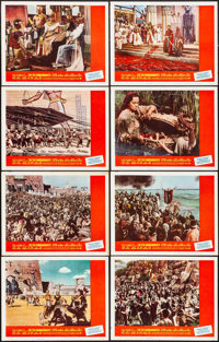 """The Ten Commandments (Paramount, R-1966). Very Fine. Lobby Card Set of 8 (11"""" X 14""""). Drama. ... (Total: 8 Ite..."""