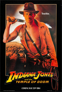 """Indiana Jones and the Temple of Doom (Paramount, 1984). Rolled, Very Fine. One Sheet (27"""" X 40"""") Advance, &quo..."""
