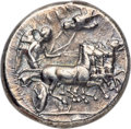 Ancients:Greek, Ancients: SICILY. Gela. Ca. 413-405 BC. AR tetradrachm (26mm, 17.13 gm, 11h). NGC XF 4/5 - 4/5, Fine Style....