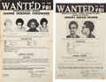 Miscellaneous:Broadside, FBI Wanted Posters (3).... (Total: 2 Items)