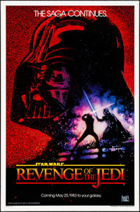 "Revenge of the Jedi (20th Century Fox, 1982). Rolled, Very Fine-. One Sheet (27"" X 41"") Dated Advance Style, D..."