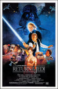 "Movie Posters:Science Fiction, Return of the Jedi (20th Century Fox, 1983). Rolled, Very Fine. One Sheet (27"" X 41"") Style B, Kazuhiko Sano Artwork. Scienc..."