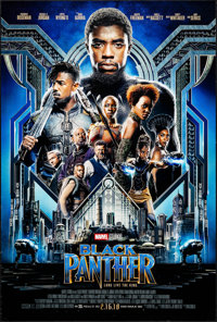 """Black Panther (Walt Disney Studios, 2018). Rolled, Very Fine-. One Sheet (27"""" X 40"""") DS, Advance. Action"""