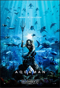 "Aquaman (Warner Brothers, 2018). Rolled, Very Fine/Near Mint. One Sheet (27"" X 40""). DS Advance. Action"