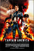 "Movie Posters:Action, Captain America: The First Avenger (Paramount, 2011). Rolled, Very Fine-. One Sheet (27"" X 40"") DS Advance. Action.. ..."