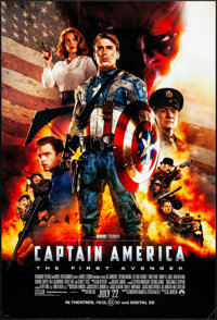 """Captain America: The First Avenger (Paramount, 2011). Rolled, Very Fine-. One Sheet (27"""" X 40"""") DS Advance. Ac..."""