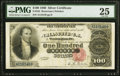 Large Size:Silver Certificates, Fr. 342 $100 1880 Silver Certificate PMG Very Fine 25.. ...