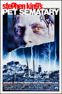 """Pet Sematary & Other Lot (Paramount, 1989). Rolled, Very Fine. One Sheets (2) (27"""" X 41""""). Horror. ... (To..."""