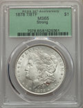 1878 7/8TF $1 Strong MS65 PCGS. PCGS Population: (358/21). NGC Census: (94/5). CDN: $1,300 Whsle. Bid for problem-free N...